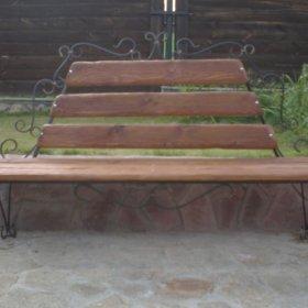 скамейка кованая